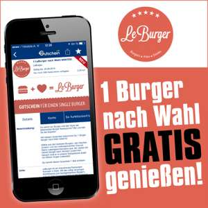 Le Burger - Single Burger nach Wahl komplett kostenlos!