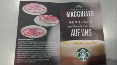 Starbucks Macchiato Pass; 4. Macchiato gratis bekommen