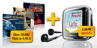 3-Monats Audible-Abo + Philips SA2940 GoGear Spark 4GB für 38€