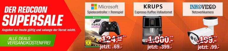 Redcoon Supersale am 17. März 2015 - u.a. mit:  Xbox One Wireless Controller + Forza Horizon 2 für 66,93€