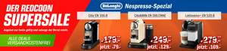 Redcoon Supersale am 19. März 2015 - diverse DeLonghi Nespresso-Maschinen zum Aktionspreis