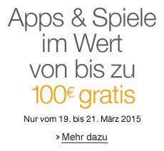 Amazon: 34 Android-Apps im Gesamtwert von über 100 € kostenlos - Nur bis zum 21. März
