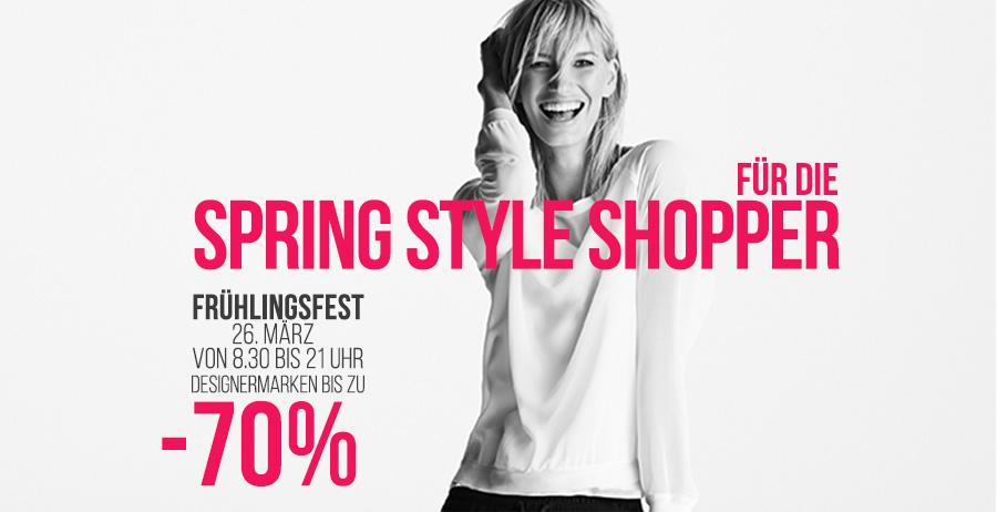 Designer Outlet Parndorf -70% Angebote beim Frühlingsfest am 26. März 2015