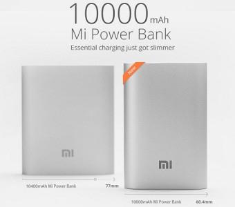 Xiaomi 10000mAh Power Bank (silber) für 10,63€ aus China