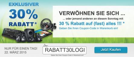 NUR HEUTE - Logitech Sale: 30 % Rabatt!!