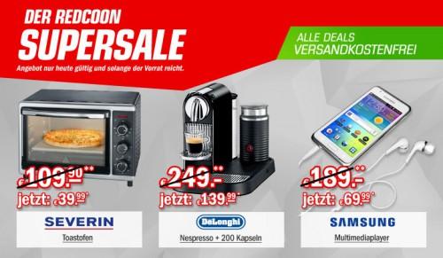 Redcoon Supersale am 27. März 2015 - u.a. mit: Severin TO9720 Mini-Backofen für 39,99€