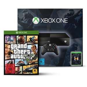 Xbox ONE inkl. Halo Masterchief Collection + GTA V für 349€ @ Amazon!