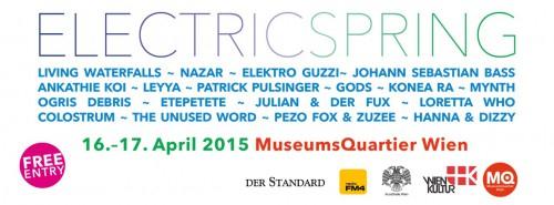 """(Event) """"Electric Spring"""" - Elektronik-Festival im MQ Wien - kostenloser Eintritt - 16.-17.4.2015"""