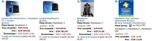 PS4 + PlayStation TV (inkl. Gutschein für 3 Vita- Spiele) + Bloodborne + 90 Tage PS Plus für 407,66€ @Amazon.fr