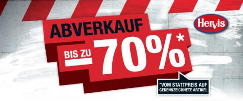 Hervis Sports - Totalabverkauf mit bis zu 70% Rabatt