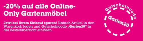 """Mömax: 20% auf alle """"online only"""" Gartenmöbel"""