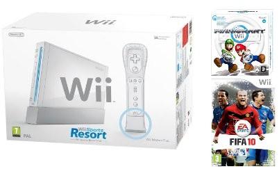Nintendo Wii Bundle bei Amazon.co.uk mit 3 Spielen für ~202€