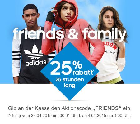 Adidas: 25% Rabatt auf den kompletten Einkauf - Nur bis zum 24. April