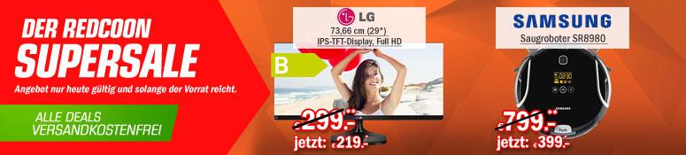 Redcoon Supersale am 23. April 2015 - u.a. mit: LG Flatron 29 Zoll UltraWide HD Monitor für 220,92€