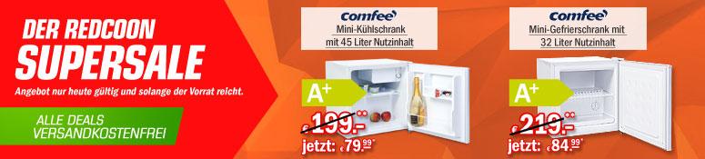 Redcoon Supersale am 30. April 2015 - u.a. mit: Comfee KB 5047 Mini-Kühlschrank für 79,99€