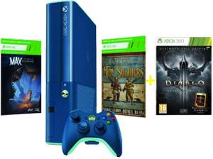 "Saturn ""Hamma Heute"" Tagesangebote vom 3. Mai 2015 - zB.: Xbox 360 Slim 500GB Blue + Max:The Curse of Brotherhood + Toy Soldiers + Destiny für 154,99€"