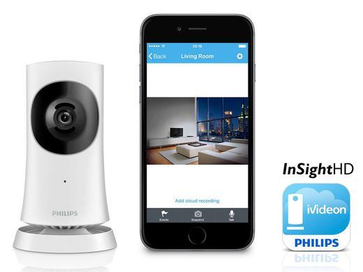 iBood: Philips In.Sight M120E/10 HD Wi-Fi Heimkamera (Nachtsicht und Audiofunktion) für 85,90€
