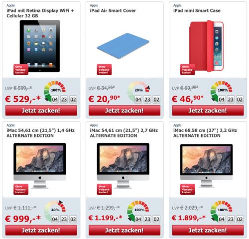 ZackZack - Apple Extra Flash Sale - bis zu 35% sparen (zB: iMacs -9%, Cases -31%,...)