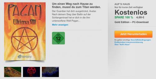 """""""Pagan Ultima 8"""" Gold Edition - kostenlos bei Origin"""