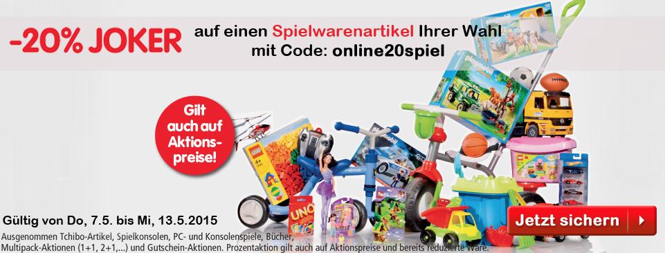 InterSpar: 20% Rabatt auf Spielzeug - gültig bis 13.5.2015
