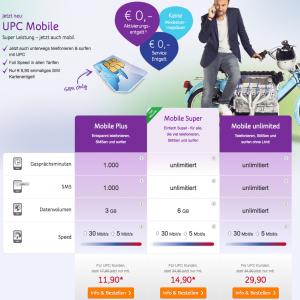 (Top!) Neue Tarife bei UPC Mobile - mit bis zu 40% Rabatt - auch für Nicht-Bestandskunden - bis 22.6.2015