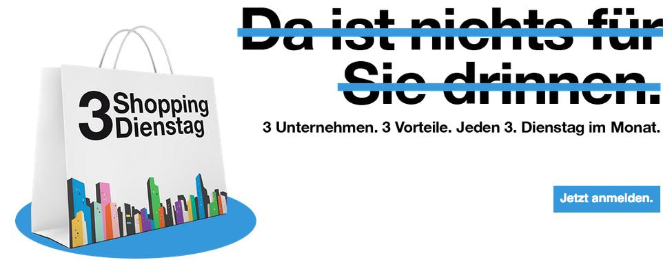 """(Info) """"Drei"""" - """"3ShoppingDienstag"""" und """"3KinoDonnerstag"""" - bis zu 50% sparen"""