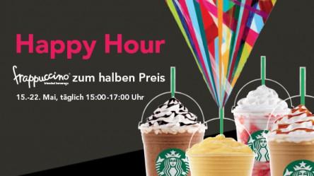 Starbucks Frappuccino Happy Hour - bis zum 22. Mai: 15-17 ( bzw. 18) Uhr -> Frappuccinos -50%
