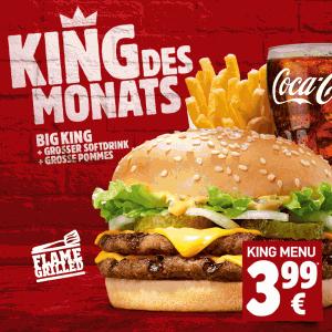 "Burger King ""Probierwochen"" - großes Menü um 3,99 €, Long Chicken um 1,99 €"