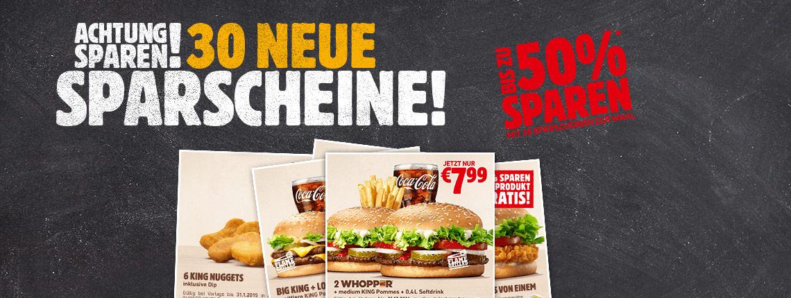 Burger King Österreich - neue Gutscheine - gültig bis 30.6.2015