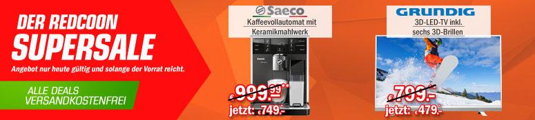 Redcoon Supersale am 27. Mai 2015 - u.a. mit: Grundig 49 VLE 8471 SL 49 Zoll 3D Fernseher für 479€