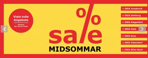IKEA Midsommar Sale - großer Möbelstücke-Abverkauf - bis zu 73% sparen