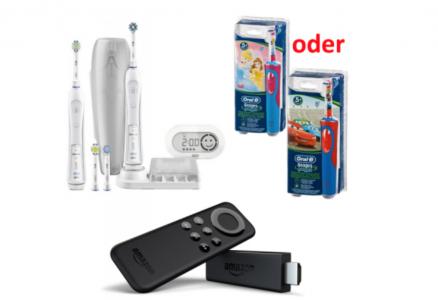 """(Amazon Preisfehler) """"Oral-B Pro 6500"""" zum Bestpreis + """"2.Oral-B Bürste"""" + """"Fire TV Stick"""" (Wert 64 €) gratis dazu"""