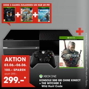 [Libro] Xbox One + The Witcher 3 für 299€/ bzw. 294€ vom 3.- 6. Juni