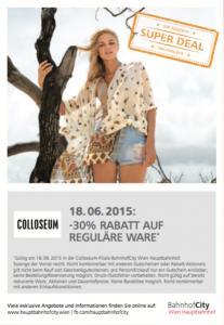 (Top!) 10 Tage Super-Deals am Hauptbahnhof in Wien - gültig ab 16.6.2015 bis 29.6.2015