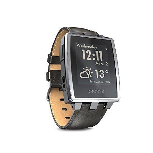 [getpebble] Pebble Steel Smartwatch silber / schwarz für 149€ - 18% Ersparnis