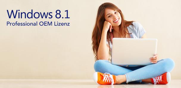 Windows 8.1 Pro (32 oder 64 bit) OEM Lizenz um 17,95 € - 80% sparen