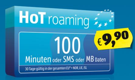 "Neuer Roaming-Tarif bei ""HoT"" (Hofer Telekom)"
