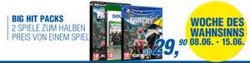 Gameware: Ubisoft Big Hit Pack im Angebot - z.B. Far Cry 4 & Watch_Dogs (PS4) für 39,90€