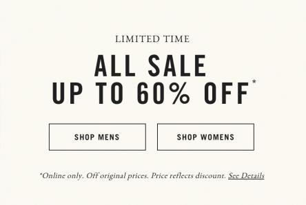 A&F All- Sale - bis zu 60% Rabatt