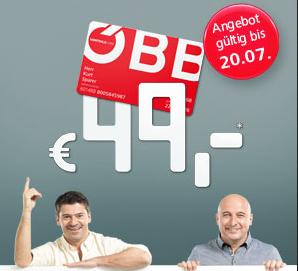"""ÖBB """"VorteilsCard Classic"""" um 49 € - 50% sparen"""
