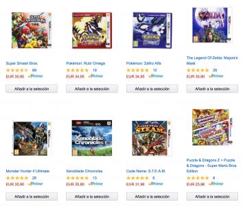 [3DS] 3 Spiele kaufen, 2 bezahlen! [@Amazon Spanien] zB.: Majoras Mask + Super Smash Bros. + Xenoblade für 75,10€