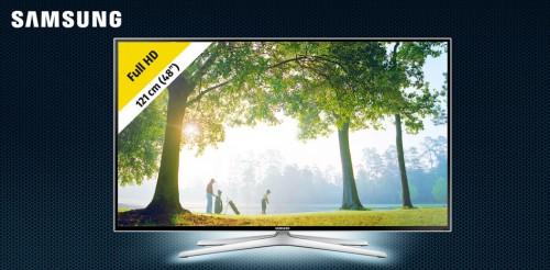 """Samsung TV (48"""" FullHD, 3D, WLAN, 400Hz) um 499 € - 25% sparen - nur am 25.6.2015"""