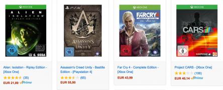 [Amazon.de] PS4 und Xbox One Spiele vergünstigt: zB.: Dark Souls II für 29€, Batman: Arkham Knight für 39€, Witcher 3 für 44€ uvm.