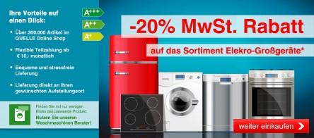 [Quelle.at] MwSt. zurück bei Elektro-Großgeräten - respektive bis zu 16,67% Ersparnis