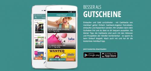 (Top) MeinKauf.at App - beim Einkaufen bares Geld zurück