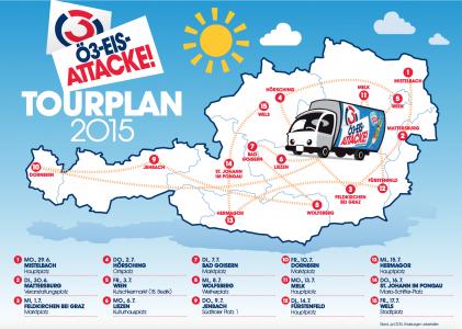 [GRATIS EIS] Ö3-Eisattacke an 15 Stops in Österreich ( heute: in Wien ( 18. Bezirk) am Kutschkermarkt!)