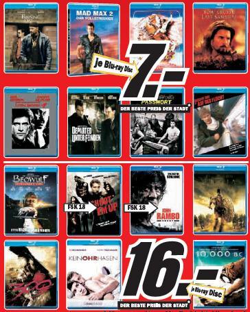 [Blu-ray] Blu-rays ab 7€ im Media Markt Konstanz