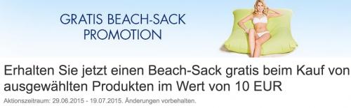 [Amazon.de] Beach-Sack gratis beim Kauf von ausgewählten Produkten im Wert von 10 EUR