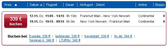 Von Berlin, Hamburg oder Frankfurt nach New York und zurück ab 181€ - Expedia.fr (.de) Error Fare