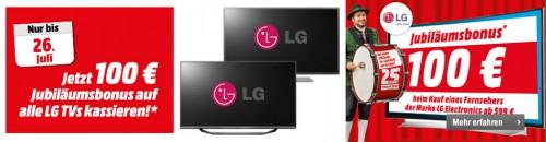 Media Markt: 100€ Rabatt auf LG TVs ab 599€ - Nur bis zum 26. Juli